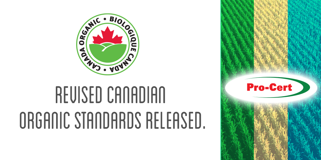 Revised Canadian Organic Standards Released